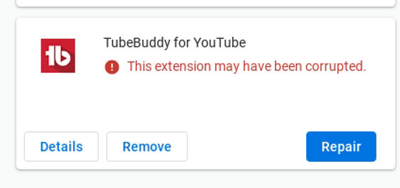 Tubebuddy_extension_corrupted.png
