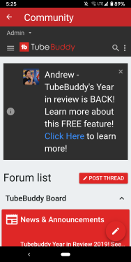 TubeBuddy Mobile App Forum Badge Request Screen Shot.png